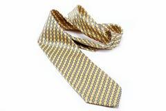 Na biel luksusowy krawat. Fotografia Stock