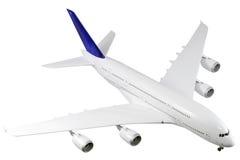 Na biel nowożytny samolot. zdjęcie royalty free