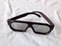Na biel podbitych oczu szkła Fotografia Stock