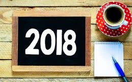 2018 na blackboard online Zdjęcie Stock