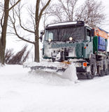 Na blizzard Stock Foto's