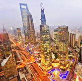 na boku centrum pieniężnego huangpu lujiazui Oriental perełkowy rzeczny Shanghai basztowy tv widok Szanghaj Lujiazui Fotografia Royalty Free