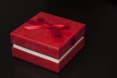 na boku pudełkowaty prezenta czerwieni widok Zdjęcia Stock