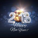 Na całym świecie kartka z pozdrowieniami 2018 Zdjęcie Royalty Free