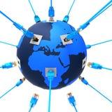 Na całym świecie Reprezentuje stronę internetową I Obliczać sieć ilustracja wektor