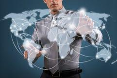 Na całym świecie sieć Fotografia Stock