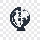 Na całym świecie wektorowa ikona odizolowywająca na przejrzystym tle loga projekt, Na całym świecie royalty ilustracja