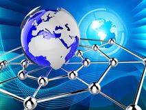 Na całym świecie Wskazuje Globalne komunikacje I Communicat sieć ilustracji