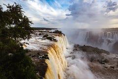 Na całym świecie znać Iguassu spadki Fotografia Royalty Free