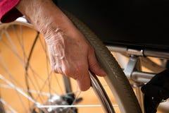 Na cadeira de rodas Fotografia de Stock Royalty Free