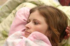 Na cama Imagem de Stock