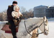 Na caminhada do cavalo Imagens de Stock