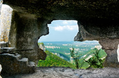 Na caverna Imagem de Stock