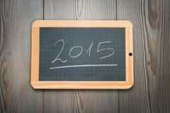 2015 na chalkboard Zdjęcia Stock