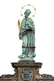 Na Charles moscie, Praga statua John Nepomuk lub John Nepomucene () Obrazy Royalty Free