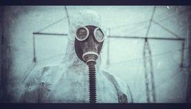 Na chemische catastrofe stock foto