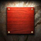 Na ścianie drewniany talerz Zdjęcie Stock