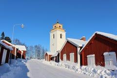Na cidade da igreja de Gammelstad Fotografia de Stock Royalty Free
