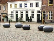 Na cidade holandesa de Heusden. Foto de Stock Royalty Free