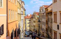 Na cidade Praga - República Checa Fotos de Stock