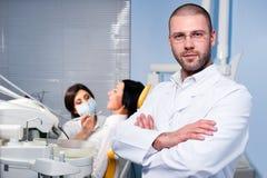 Na clínica dental imagem de stock royalty free