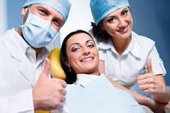 Na clínica dental imagem de stock