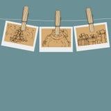 Na clothespin bożenarodzeniowa fotografia Obrazy Stock