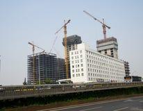 Na construção de construções muito-contado Fotografia de Stock