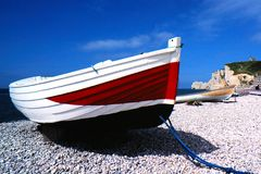 Na costa de Normandy Fotos de Stock Royalty Free