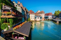 Na costa de Strasbourg Fotos de Stock Royalty Free