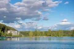 Na costa do lago da floresta Fotos de Stock Royalty Free