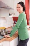Na cozinha imagens de stock royalty free