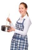 Na cozinha foto de stock royalty free