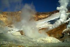 Na cratera Foto de Stock