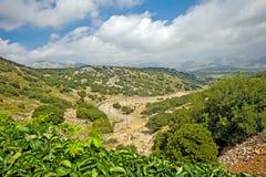 Na Crete Lasithi plateau, Grecja zdjęcia stock