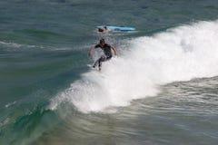 Na crista de uma onda Imagem de Stock
