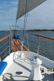 Na curva de um navio alto Fotos de Stock Royalty Free