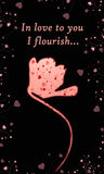 Na czarny tle menchia piękny kwiat royalty ilustracja