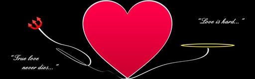 Na czerń wielki serce Zdjęcie Stock