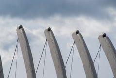 na dach budynku architektury szczególne Obrazy Royalty Free