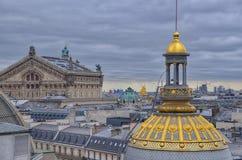 Na dachach Paris Zdjęcia Royalty Free