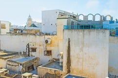 Na dachu stary Tunis dwór Zdjęcia Stock