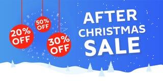 Na de banner van de Verkoop van Kerstmis vector illustratie