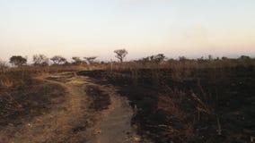 Na de brand stock afbeelding