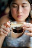 Na de lunch koffie Stock Foto