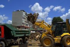 Na de overstroming van Varna Bulgarije 19 Juni Stock Foto's