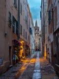 Na de regen in Alghero, het Eiland Sardinige stock afbeelding