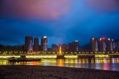Nacht in Chongqing Stock Afbeelding