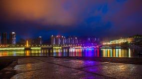 Nacht in Chongqing Stock Afbeeldingen
