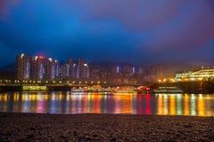Nacht in Chongqing Royalty-vrije Stock Afbeeldingen